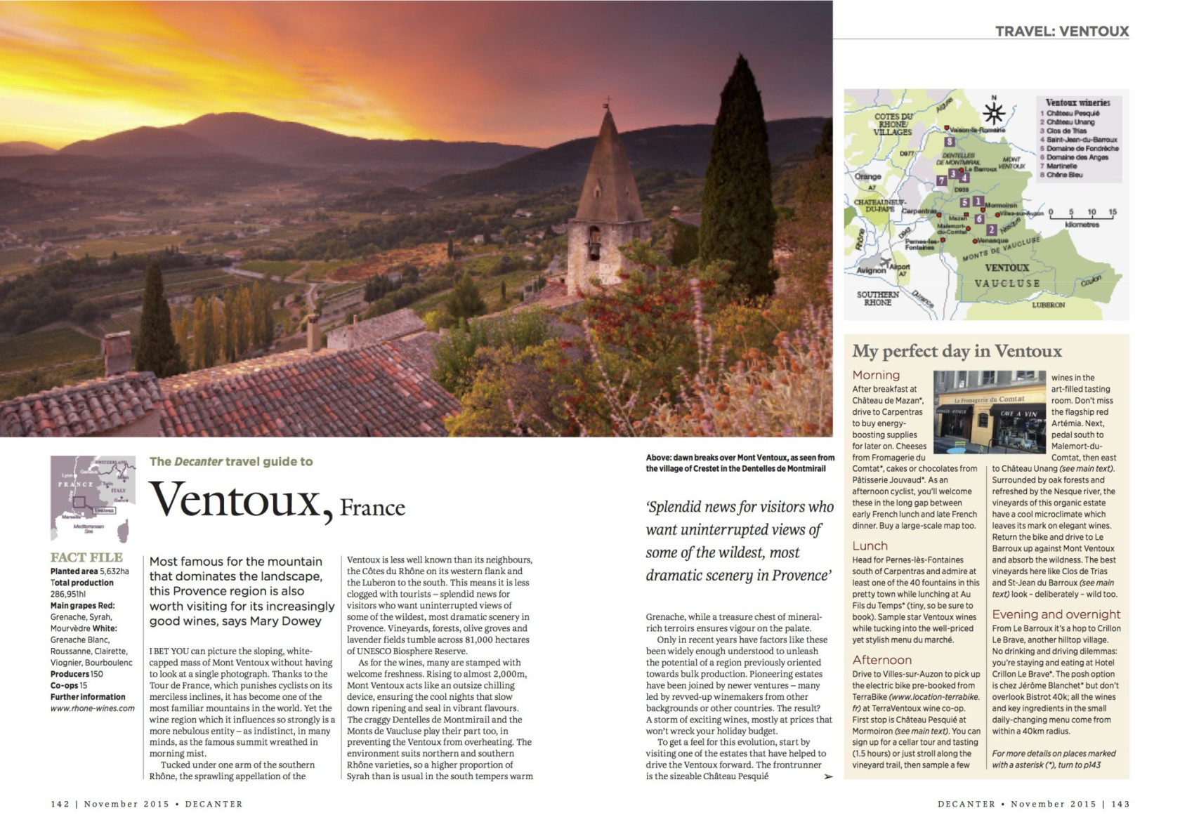 Ventoux travel