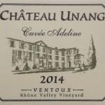 Chateau Unang Cuvee Adeline 2014 Blanc AOC Ventoux
