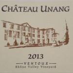 Chateau Unang Rouge AOC Ventoux 2013
