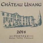 Chateau Unang Rose 2014 AOC Ventoux