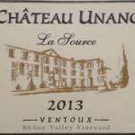 Chateau Unang La Source 2013 Rouge AOC Ventoux