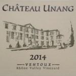 Chateau Unang Blanc 2014 AOC Ventoux