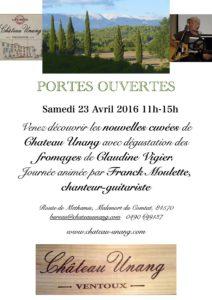 Portes ouvertes 23 Avril 2016